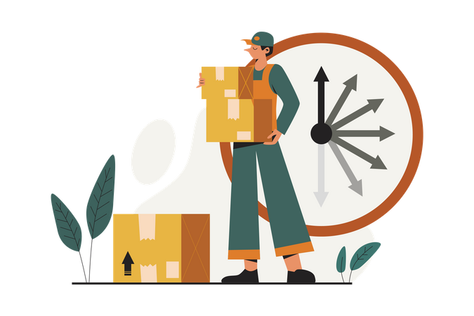 Express Courier Illustration
