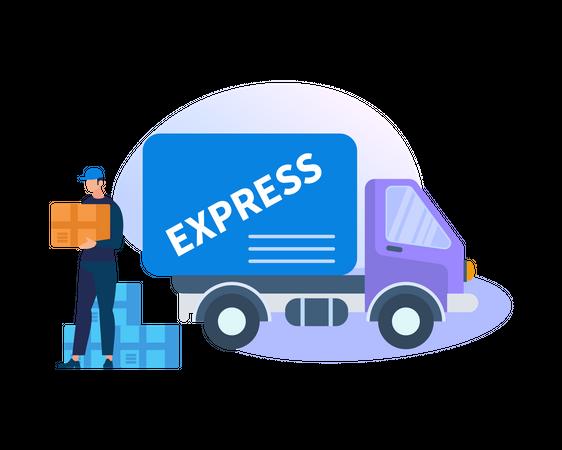 Express delivery Illustration