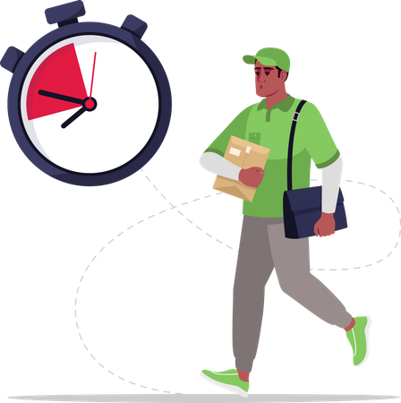 Express delivery by postman Illustration
