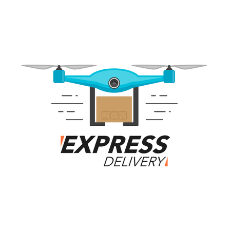 Express delivery Drone Illustration