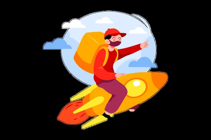 Express delivery Service Illustration