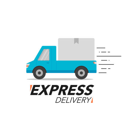 Express Delivery Truck Illustration