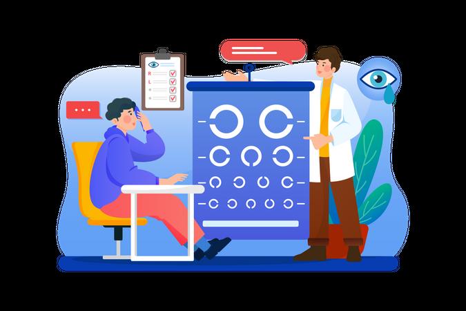 Eye Checkup Illustration