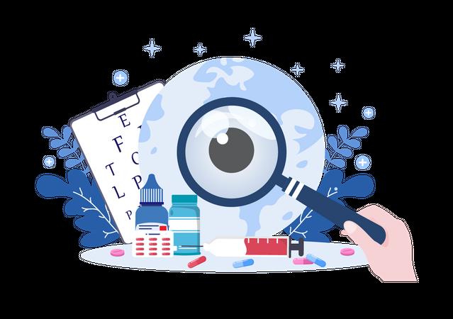 Eyesight checkup Illustration