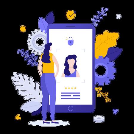 Face ID technology Illustration