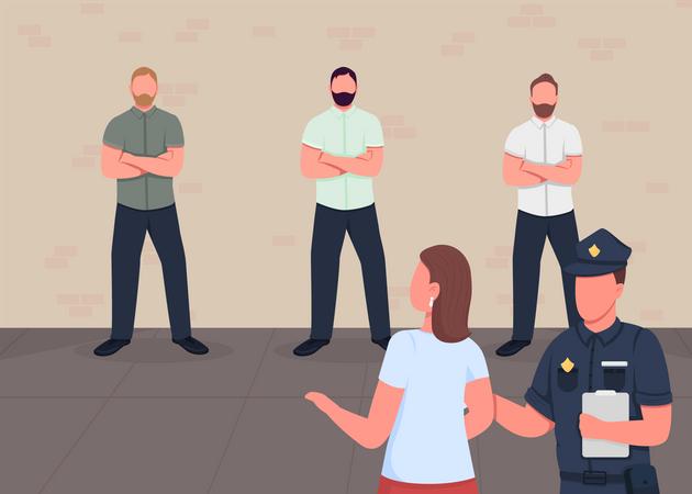 Face recognition Illustration