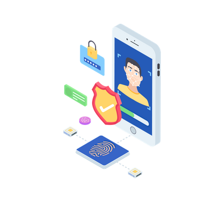 Face Recognition App Illustration