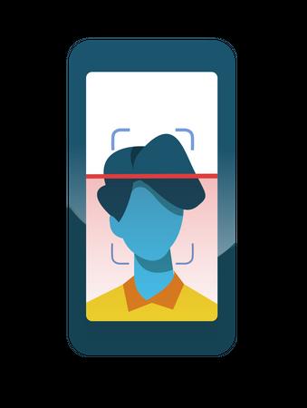 Face Scanner Illustration