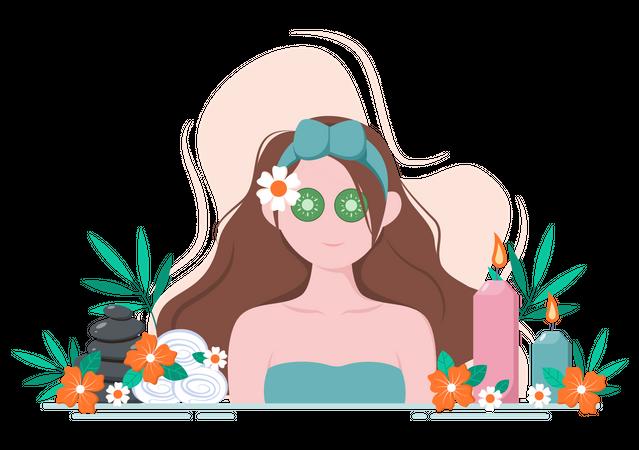 Face Spa Illustration