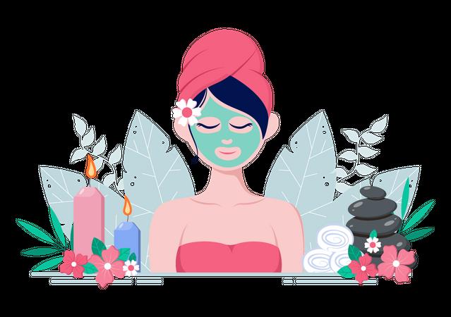 Facial Treatment Illustration
