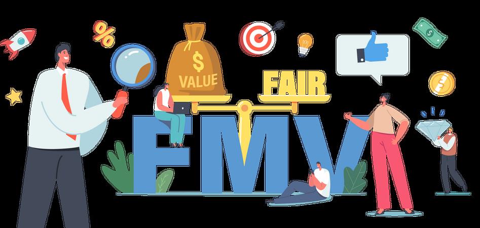 Fair Value Market Business Illustration