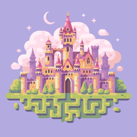 Fairy tale princess castle Illustration
