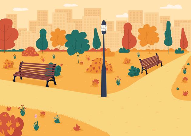 Fall park Illustration