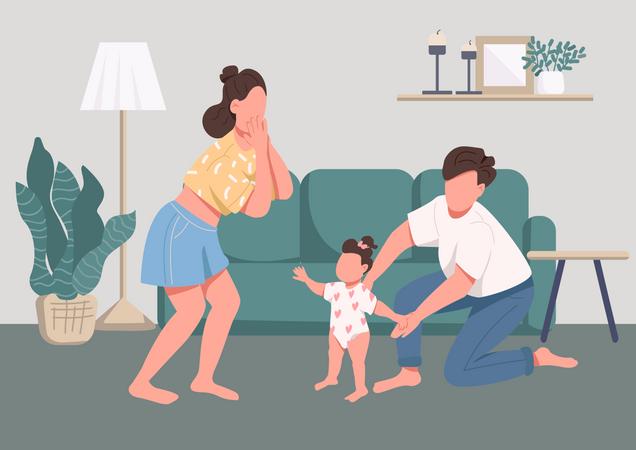 Family happy moments Illustration