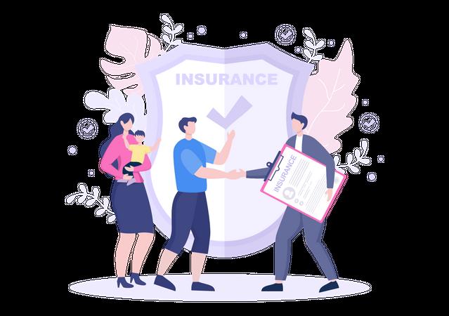 Family Health Insurance Illustration