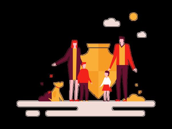 Family Holiday Illustration