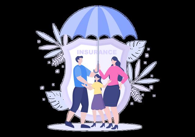 Family insurance Illustration