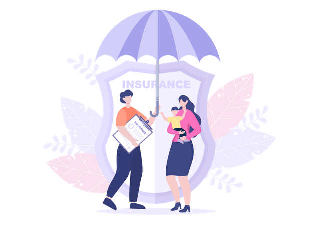 Family insurance policy Illustration