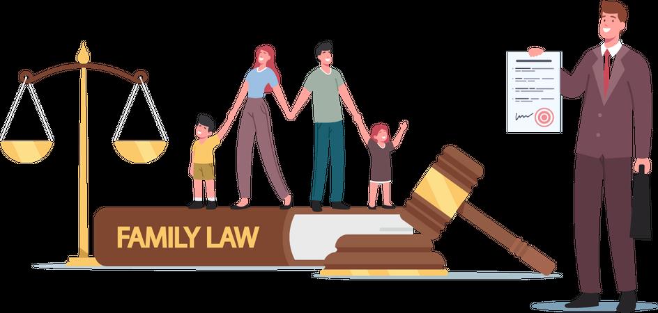 Family Law Illustration