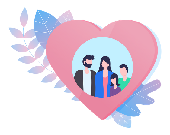 Family photo Frame Illustration