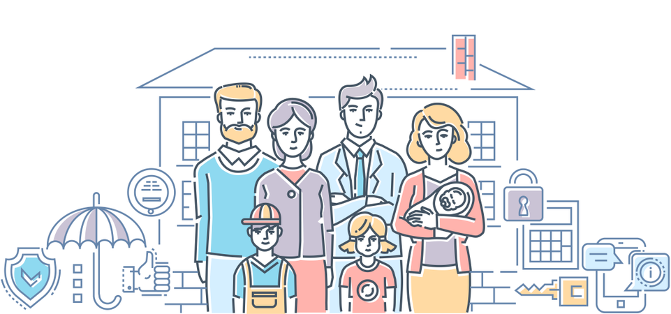 Family Protection Illustration