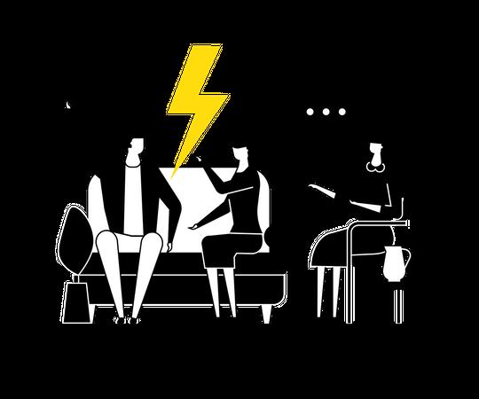 Family psychologist Illustration