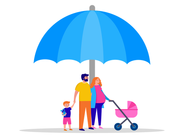 Family safety Illustration