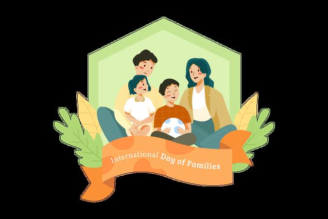 Family spending time together Illustration