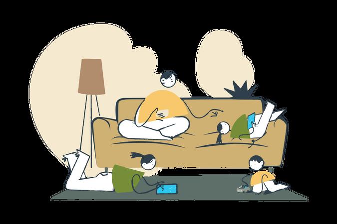 Family Time Illustration