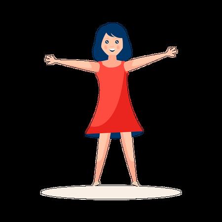 Girl dancer Illustration