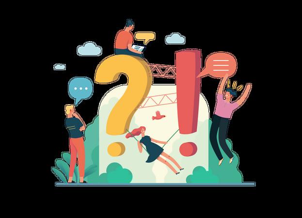 FAQ - customer support concept Illustration