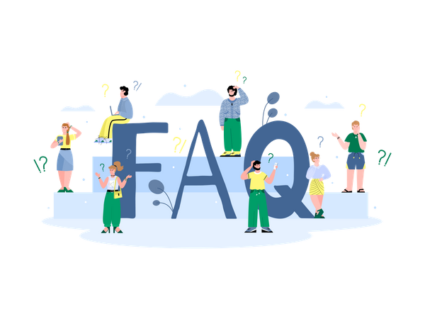 FAQ questionnaire and information for users Illustration