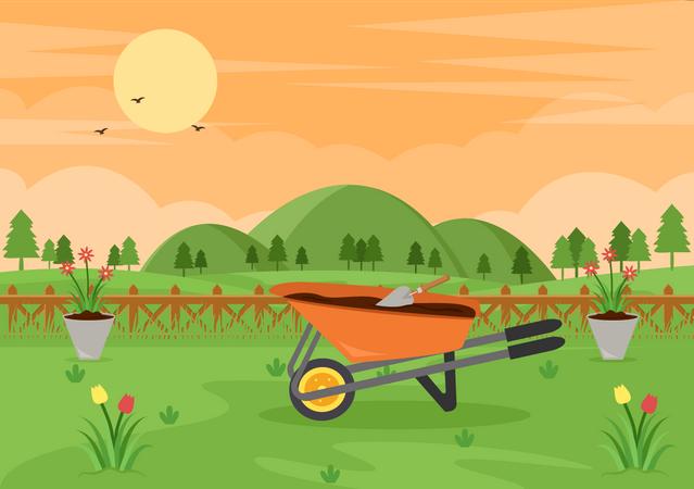 Farm land Illustration