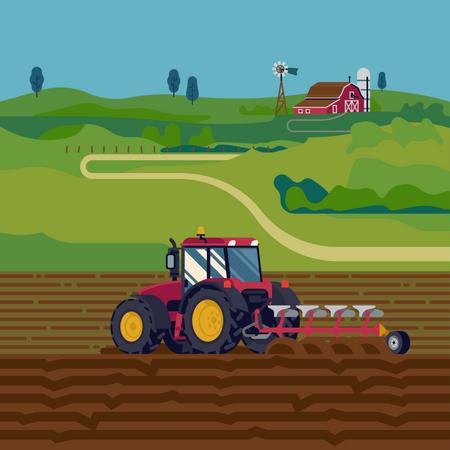 Farming Cultivator Illustration