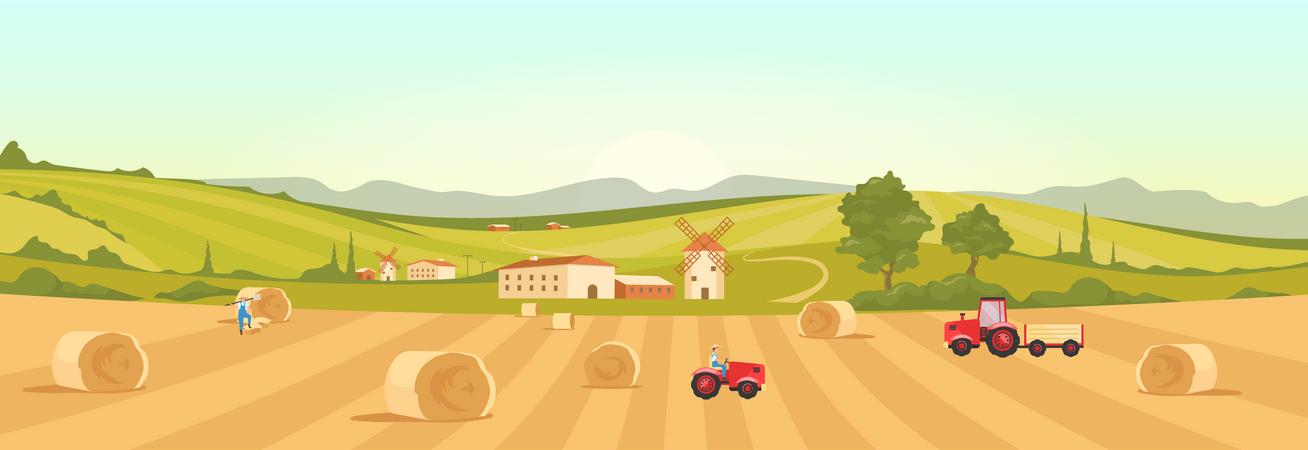 Farmland Illustration
