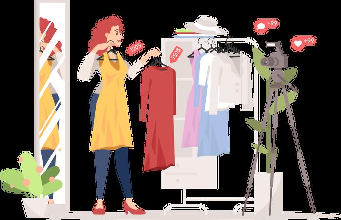 Fashion blogger Illustration