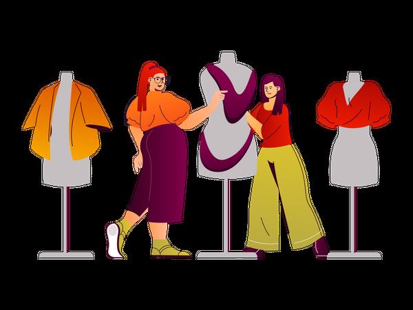 Fashion designer Illustration
