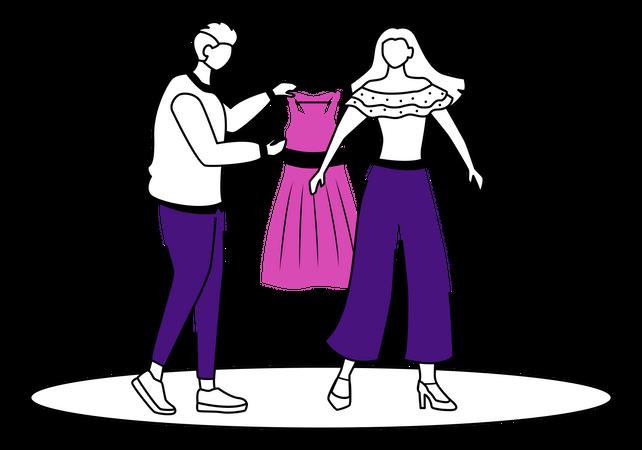 Fashion designer work Illustration