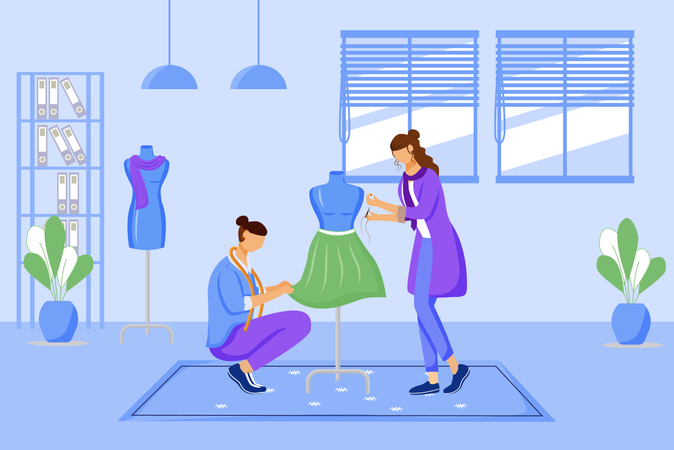 Fashion designers atelier Illustration