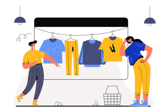 Fashion Shopping Illustration