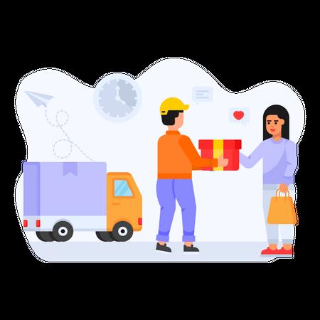 Fast Delivery Illustration