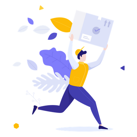 Fast delivery of goods Illustration