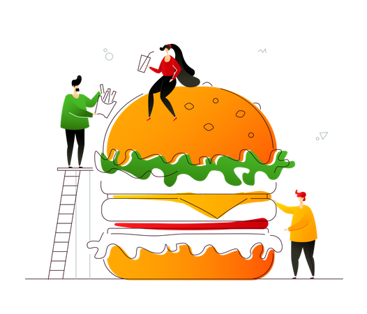 Fast food lover Illustration