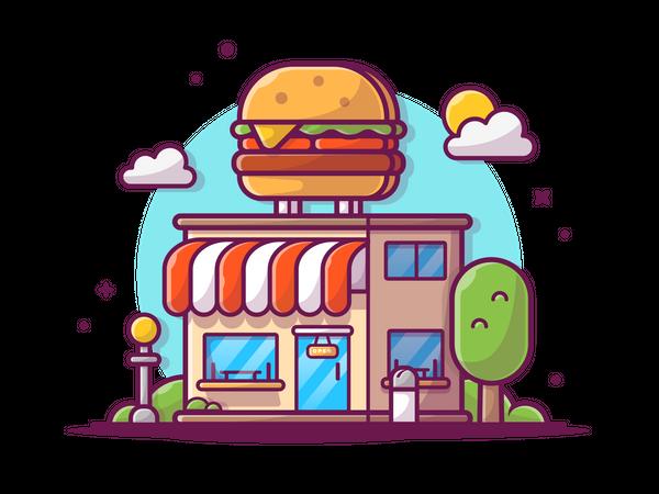 Fast food shop Illustration