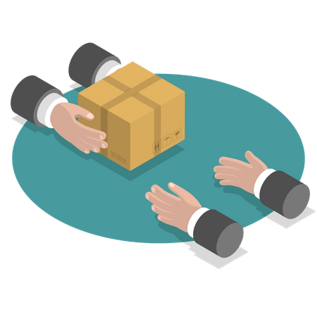Fast goods delivery Illustration