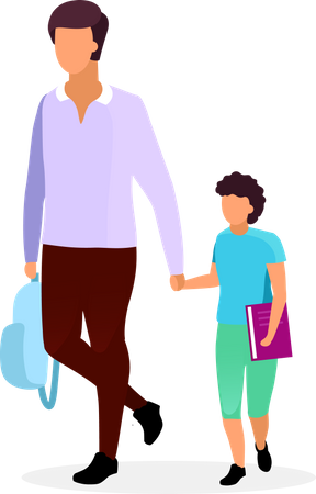 Father with son Illustration