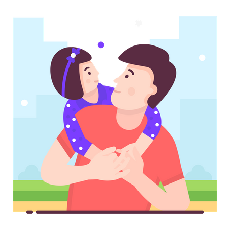 Fathers day Illustration