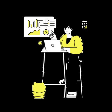 Female accountant Illustration