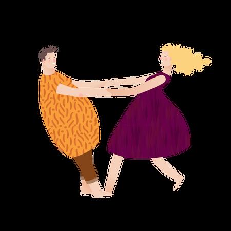 Female and male model Illustration
