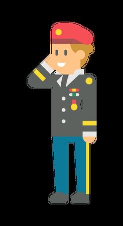 Female Army general Illustration